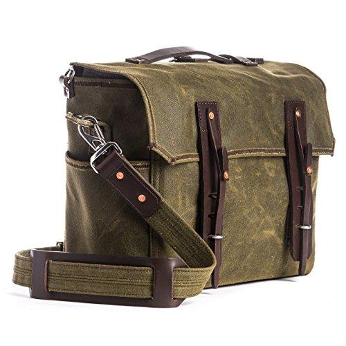 Saddleback Leather Large Waxed Canvas Gear Bag