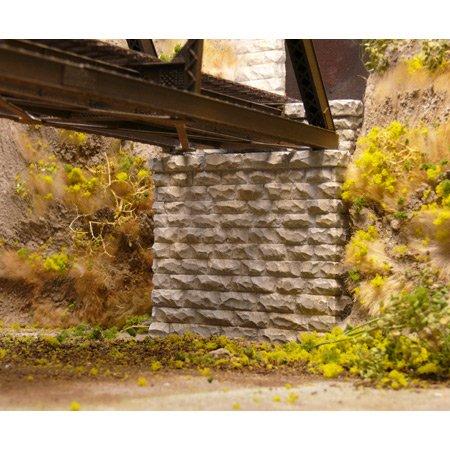 Chooch Enterprises CHO9840 N Single Cut Stone Bridge Abutment (2) (Cut Stone Bridge)