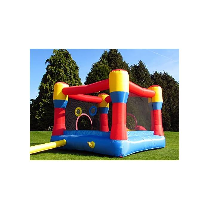 51weHesAAXL Con una gran zona cerrada y un gran tobogán inflable Marca premium de castillos inflables para niños, con doble costura de alta calidad La instalación es rápida, en unos 3 minutos