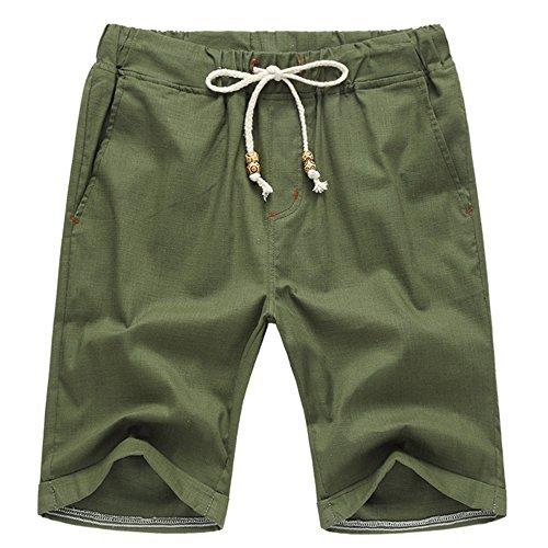 Leward Men's Linen Casual Classic Fit short