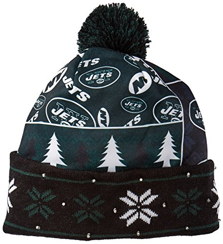 FOCO New York Jets Exclusive Busy Block Printed Light Up Beanie by FOCO