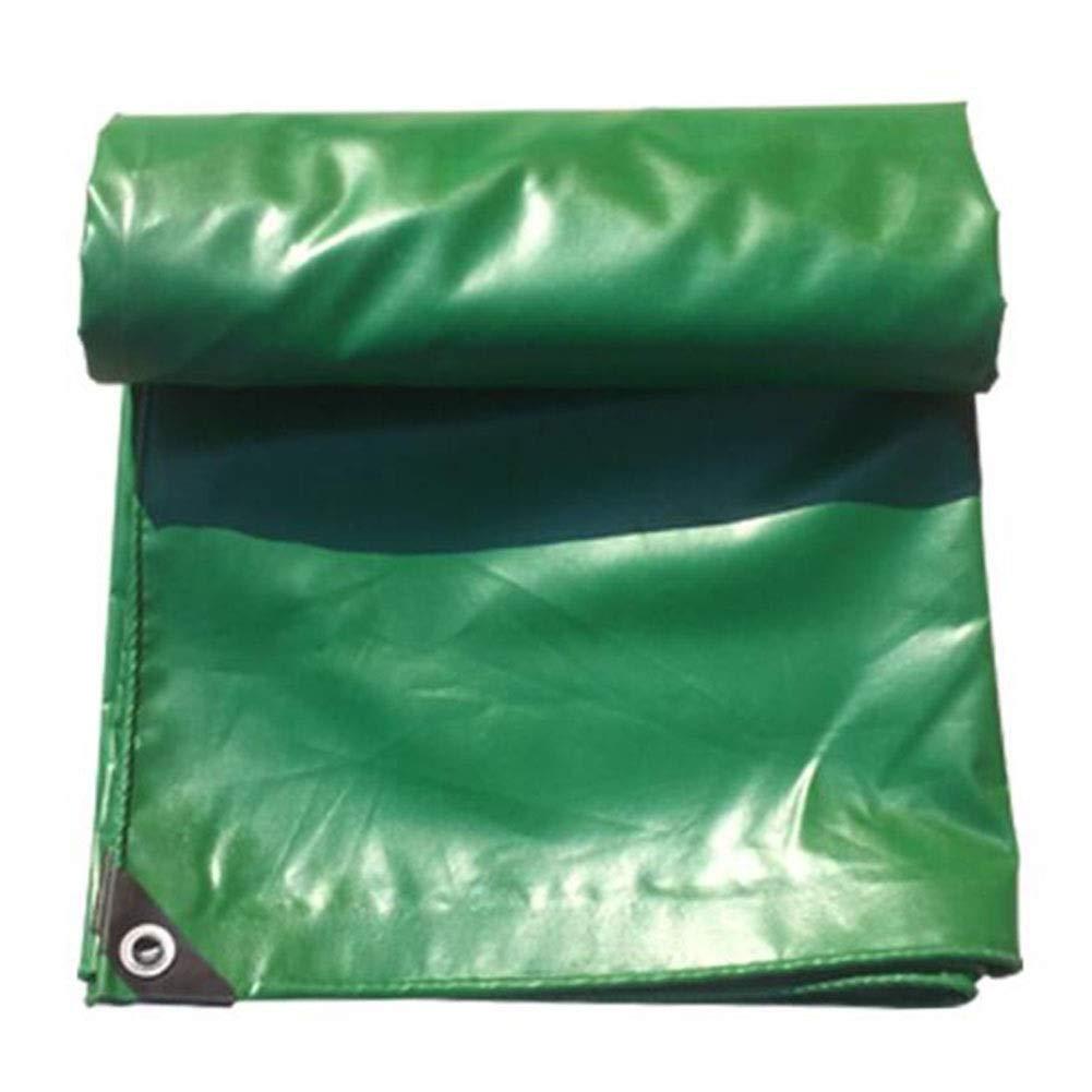 DALL ターポリン ヘビーデューティ PVC 雨の布 防水 日焼け止め 多目的 耐摩耗性 保護カバー 530g /m² (Color : 緑, Size : 4×5m) 緑 4×5m