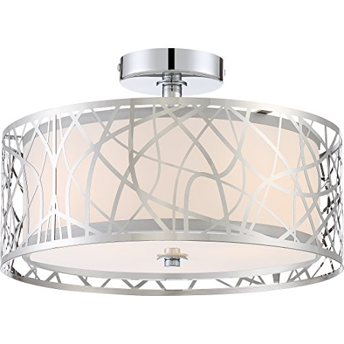 Quoizel PCAE1715C Abode Semi-Flush Mount Ceiling Lighting, 3-Light, 300 Watts, Polished Chrome (10