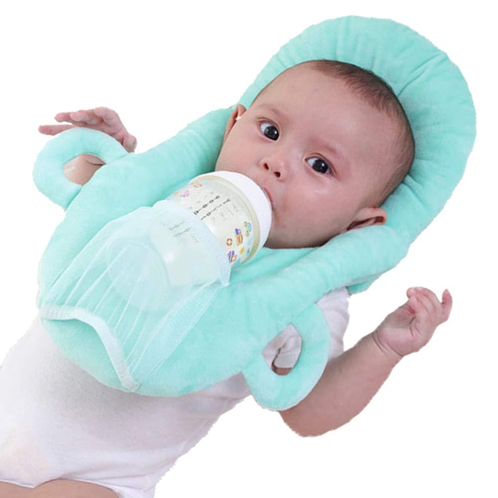 Self-Feeding Baby Pillows Detachable Infant Pillow Hands Free Newborn Bottle Support Toddler Cotton Cushion for Breastfeeding Sleeping Nursing