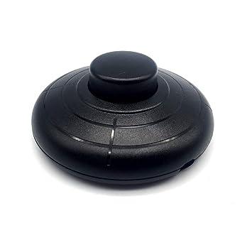 FUJIE 1 Pcs Interruptor de Pie Redondo Soporte Pedal ...