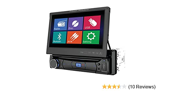 Amazon.com: POWER ACOUSTIK PD-701 In-Dash Single DIN DVD AM/FM Receiver with 7-Inch Flip-Out Touchscreen Monitor and USB/SD Input: Car Electronics