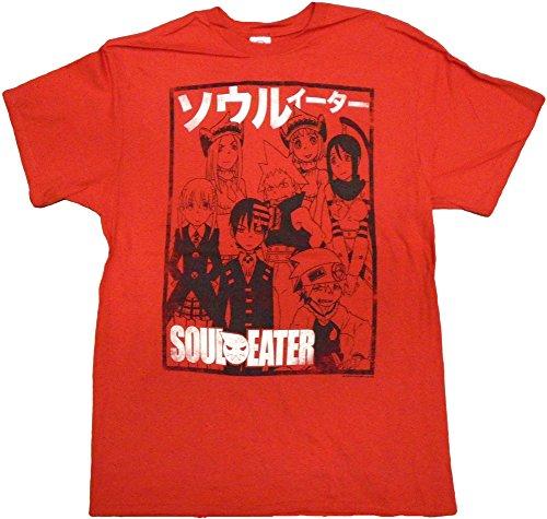 Soul Eater Team Outline Red Mens T-Shirt, Large