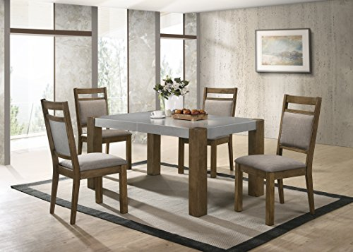 Roundhill Furniture D725-5PC Collection Costabella 5 PC Dining Set, Table with 4 Chairs