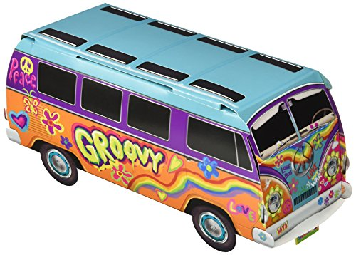Beistle 57326 1-Pack 60's Bus Centerpiece, (Tie Dye Hippie Costume Ideas)