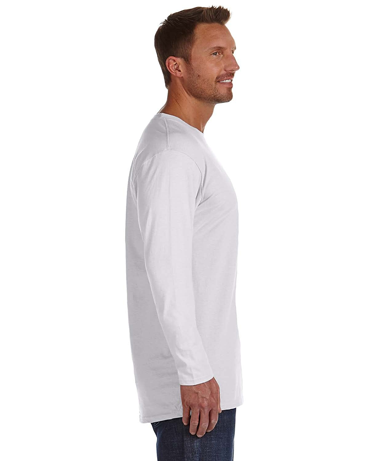 Hanes Tagless Nano-T Mens Long-Sleeve Tee
