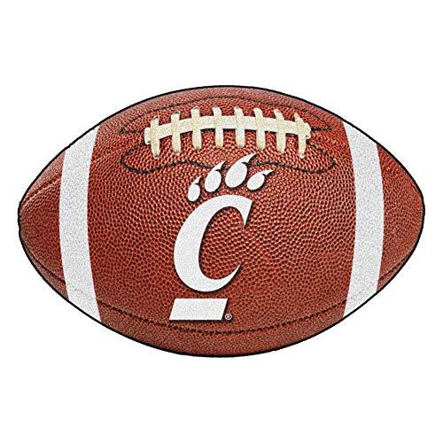 FANMATS NCAA University of Cincinnati Bearcats Nylon Face Football Rug