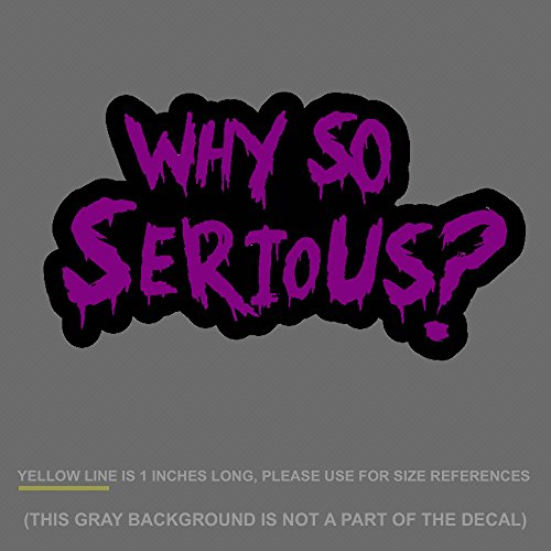 Decals Joker (OwnTheAvenue Why So Serious #2 Sticker Decal Joker Evil Body Window Purple 7.5