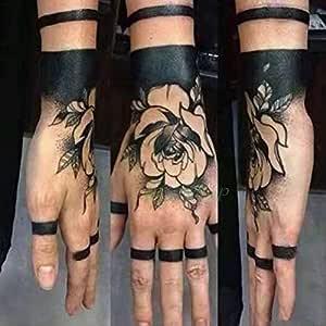 Handaxian 5 Piezas Etiqueta de Tatuaje a Prueba de Agua Rose ...