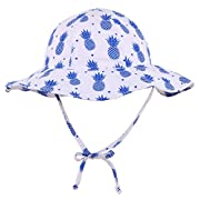 ThunderCloud Baby 50+ SPF UV Protective Bucket Sun Hat,Pineapple,0-12 Months