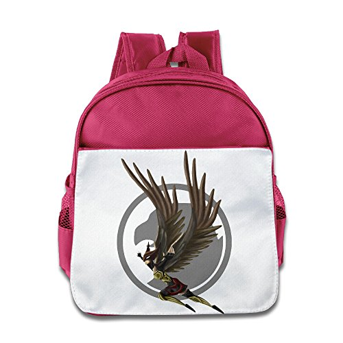 [XJBD Custom Funny Hawkgirl Superhero Children School Bag Backpack For 1-6 Years Old Pink] (Hawkgirl Cosplay Costume)