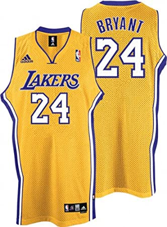 185e1bf20e2 adidas Kobe Bryant Jersey Gold Swingman  24 Los Angeles Lakers Jersey