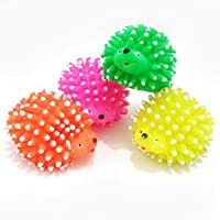 Dog Chew Toy Squeaky Funny Toys Cute Hedgehog Shape Pet Puppy Squeaker Ball Random Color by Awhao