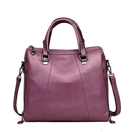 À Sac À Capacité À Bandoulière Sac Mode Main Gris Purple Sac Usage Meaeo Bandoulière Sac Grande À Double BU4SS0