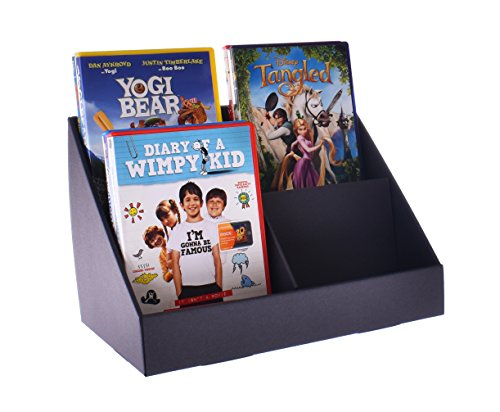 Stand-Store 4 Pocket Cardboard Point of Sale Display Stand for CD's/DVD's/Greeting Cards - Black