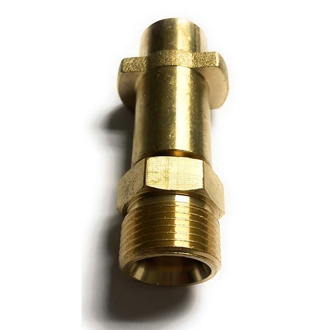 Bajonett Adapter M22 geeignet für Kärcher K2 K3 K4 K5 K6 K7 M22x 1.5 AG Messing