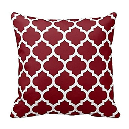 Amazon Dark Burgundy And White Decorative Cushion Covers Throw Inspiration Red And White Decorative Pillows