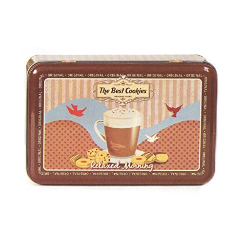Retro Classic 50's / 60's Vintage Diner Style Rectangular Biscuit / Storage Tin - THE BEST COOKIES by Buzz
