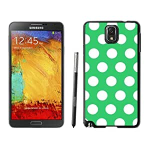 Coolest Samsung Galaxy Note 3 Case Polka Dot Green and White Soft TPU Black Phone Cover Speck protector