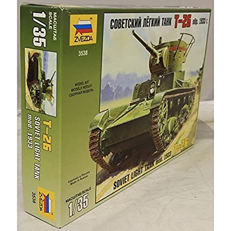Amazon.com: Zvezda 1/35 T-26 Soviet Light Tank mod. of 1933 ...