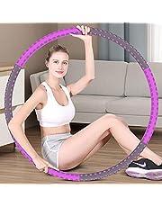 Hoola Hoop Reifen Erwachsene 1.5kg, 6-8 Segmente Abnehmbarer Hoola Hoop Reifen Geeignet Für Fitness/Sport/Zuhause/BüRo/Bauchformung,Lila