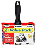 Lint Roller Value Pack - Extra Sticky Pet Hair Rollers - Hair Busters by Erasmus Pets. 3 Rolls, 60 Sheets Per Roll