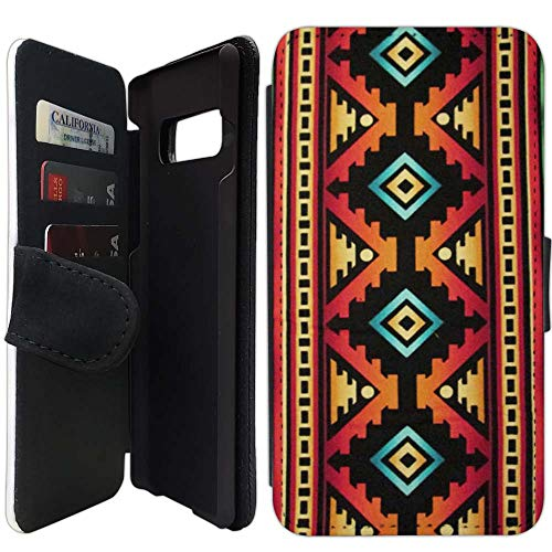 [해외]Flip Wallet Case Compatible with Galaxy S10 (Native American Tribal Pattern) with Adjustable Stand and 3 Card Holders | Shock Protection | Lightweight | Includes Free Stylus Pen by Innosub / Flip Wallet Case Compatible with Galaxy ...