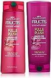 Garnier Fructis Full & Plush - Paraben-Free Fortifying Shampoo & Conditioner Set - Net Wt. 12.5 FL OZ (Shampoo) & Net Wt. 12 FL OZ (Conditioner) - One Set