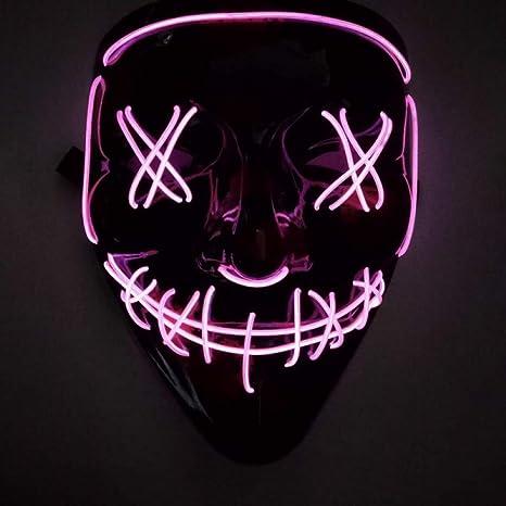 BINGSL Halloween/Máscara de Halloween Máscaras de luz LED ...