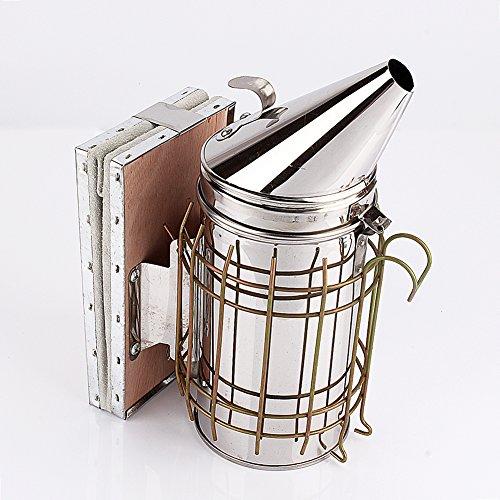 Yosoo Bee Hive Smoker Stainless Steel Heat Shield Beekeeping Equipment with Updated Design by Yosoo