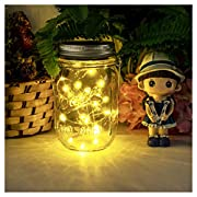 NEWYANG Solar Mason Jar Lights - Led Water-Proof Outdoor Fairy Lights,Hanging Lights for Garden, Courtyard, Wedding, Party, Bar, Cafe,Christmas,Wall,Table,Tree,Fence, etc.
