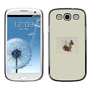 // PHONE CASE GIFT // Duro Estuche protector PC Cáscara Plástico Carcasa Funda Hard Protective Case for Samsung Galaxy S3 / Ardilla Forrest /