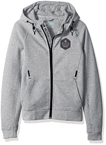 Levelwear LEY9R NCAA Michigan State Spartans Children Unisex Jr Fortress Cross Over Full Zip Hooded Jacket, Yl, Heather Pebble ()