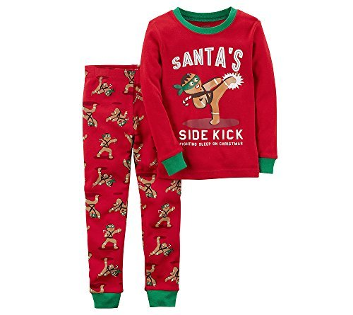 Carter's Baby Boys' 12M-4T 2 Piece Gingerbread Snug Fit Cotton Pajamas 18 ()