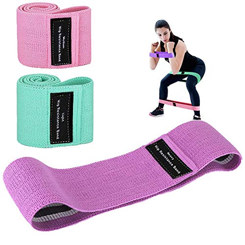 Booty Bands, Landcorssers Resistance Bands for Legs and Butt, 3 Non-Slip High Exercise Workout Fitness Bands for Squat Glute Hip Training, Booty Bands for Yoga Weight Training Pilate Sport Thigh Glute