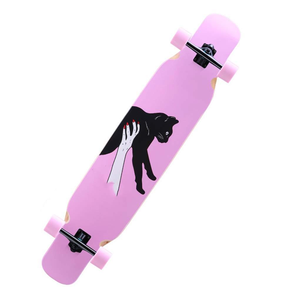 TXFG Roller erwachsenes Mädchen Korea vierrädrige Landstraße leuchtende professionelle Bürstenstraße doppelt-oberer Junge Tanzbrett Langer Anfänger Für Ihre Wahl (Farbe   F) B07Q1WQ44D Skateboards Produktqualität