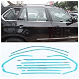 Baodiparts Stainless Steel Chromed Full Window Sill Frame Molding Cover Frame Trim Car Window Decorations 10-pc Set