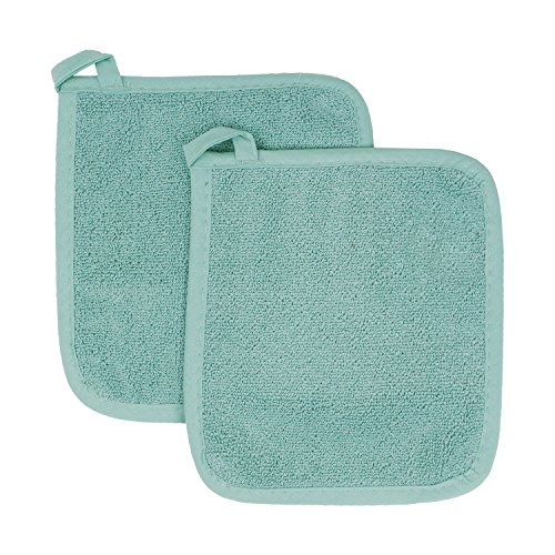 - Ritz Royale Collection 100% Cotton Terry Cloth Pot Holder Set, Kitchen Hot Pad, 2-Pack, Dew