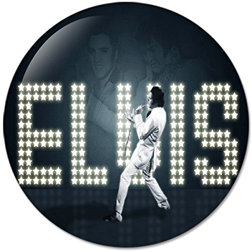 Elvis Presley #1 Music Collection Bottle Opener Round Button Badges With Refrigerator Magnet, NEW 2.25 Inch