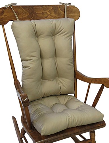 The Gripper Non-Slip Twill Rocking Chair Cushions, Brownstone (Wooden Cushions Chair Rocking)