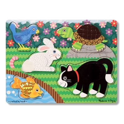 Melissa & Doug Pets Touch and Feel Puzzle from Melissa And Doug