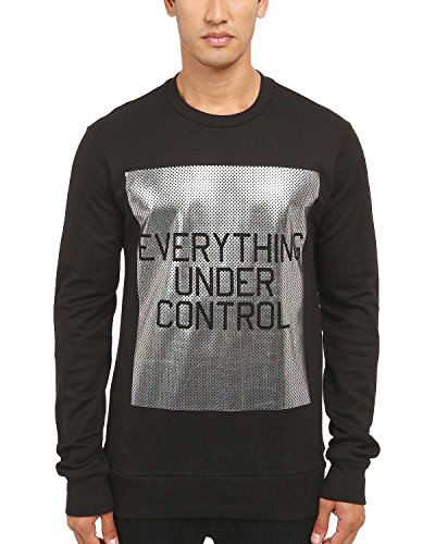 Yohji Yamamoto Y-3 Everything Under Control Print Crewneck Sweater Large Black (Print Yamamoto)