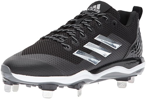 adidas Performance Men's PowerAlley 5 Baseball Shoe, Core Black, Silver Met, Ftwr White, 8 M US