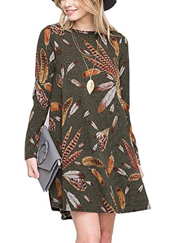 floral print sweater dress - 1