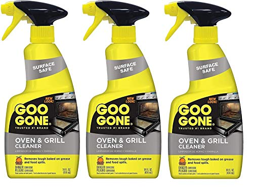 Goo Gone Oven and Grill Cleaner - 14 Ounce - Removes Tough Baked On Grease and Food Spills Surface Safe Pack of 3 by Goo Gone