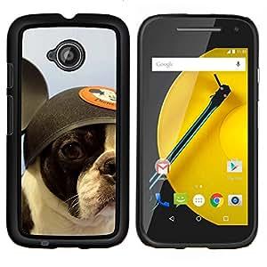 LECELL--Funda protectora / Cubierta / Piel For Motorola Moto E2 E2nd Gen -- Perro Bull Terrier Bulldog francés Boston --